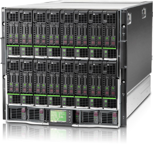 HPE BLc7000 G3 Platinum Chassis  w/ 16 X BL465C GEN8 Server Blade  32 x  16-CORE  AMD Opteron